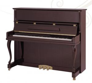 China Modern Style Wooden Acoustic Upright Piano Elegant Pianoforte Teakwood Polished AG-125Z1 on sale