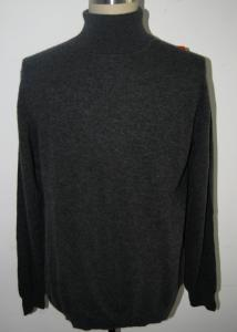 China Long Sleeve Turtleneck Sweater Mens , Black Cashmere Turtleneck Sweater on sale