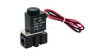 China 2.5mm Plastic Steel Two Position Two Way Solenoid Valve , Direct Acting Valve on sale