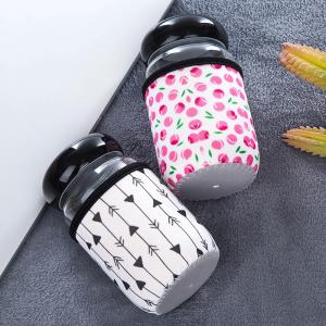 Botella de agua de cristal personalizada del bebé, Portable reutilizable de la botella de leche del bebé