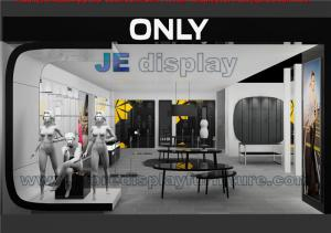 Quality Modern Store Interior Design For Fashion Cloth Display By Black Glossy Center Table And Nesting