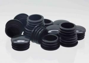 China KR-P0378 PP Round Plastic Pipe Plugs Steel Furniture Tube Use Cover Insert Black on sale