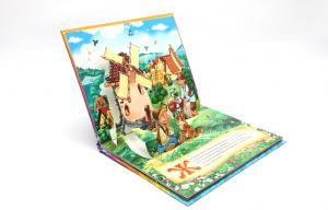 China Comic 3D Pop Up Book Printing Service 350g white board , totally 12 pages on sale