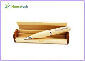 China Maple Wood Pen USB Flash Drive Recorder , Laser Pointer Ball Pen Bulk USB Memory Drive on sale