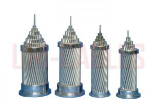China ASTM - B232 Aluminum Conductor Steel Reinforced , Light Weight ACSR Overhead Conductor on sale