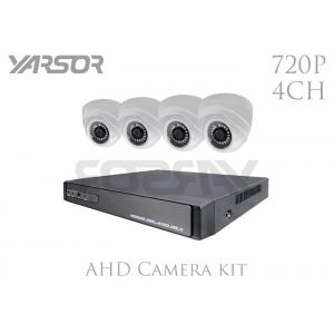 China Home Dome Camera Kit 4 Channel HD 1.0MP Day Night Dome Camera With 3.6mm Lens on sale
