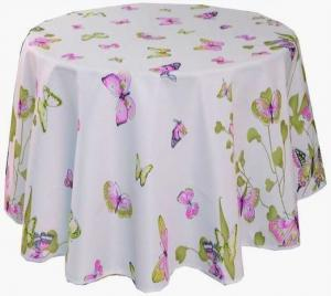 China Round Printed Polyester Table Cloth Banquet Polyester Table Cloth on sale