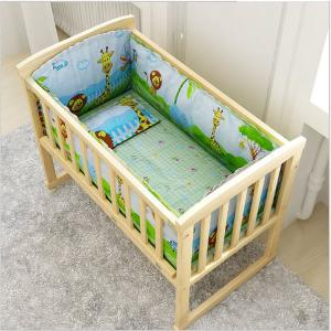 China Hot selling customized mobile children's swing bed wooden baby crib on sale