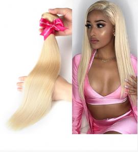 China 3 Bundles Straight Peruvian Human Hair Weave For Lady 613 Blonde Color on sale