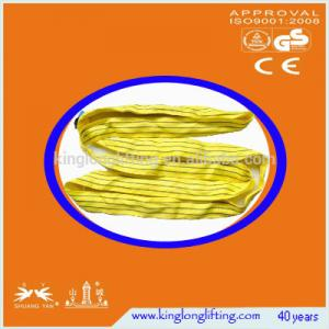 China Large Load Capcacity Wire Rope Sling 1-100m Length Flat Lifiting Eye on sale
