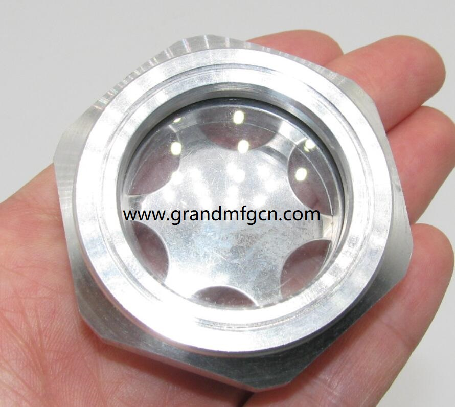 Buna-N Seal Straight to Male Thread 1//2 inch Thread Size Vented Oil-Level Indicators and Gauge 4-1//4 inch Long Sight