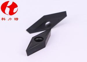 China VBMT160404-NN Hard Alloy Tungsten Carbide Inserts Yellow Color Turn Parts CVD / PVD Coating on sale