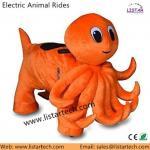 Los animales motorizados felpa motorizaron los paseos motorizados batería de los animales de los animales, vespas de la felpa