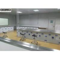Top SS Countertop Chemical Lab Furniture With PP Base Cabinet And Handle