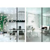 China Custom Painting Flat 5mm Acid Etched Glass for Wardrobe / Kitchen Cabinet Door Glass on sale
