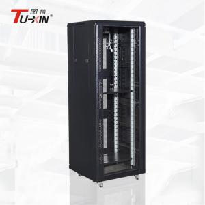 China 24U / 27U / 32U Standing Network Cabinet 600mm / 800mm Server Rack Stable Structure on sale