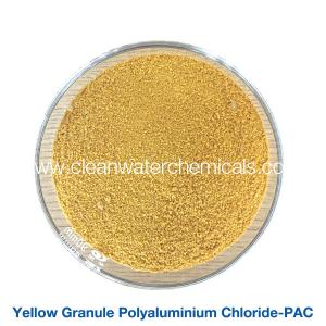 China Roller Yellow Polyaluminium Chloride Powder flocculant polymer pac 30% For Waste Water Treatment on sale