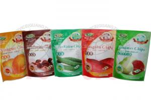 China Zipper Resealable Stand Up PouchesFor Fruit Chips And Cooked Food on sale