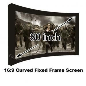 China Top Quality 3D Theater Screen 80Inch 16:9 Format Wall Mount Fixed Frame Projection Screens on sale
