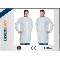 China Disposable Polypropylene Lab CoatFor Household / Hospital Blue Or White Color on sale