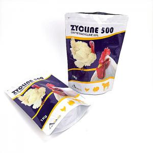 China Waterproof Aluminum Foil Heat Seal Packaging Bag Ziplock Gravnre Printing For Chicken on sale