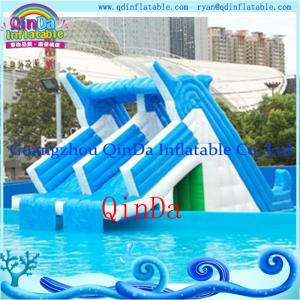 China Giant lake inflatable water slide for sale inflatable pool slides for inground pools on sale