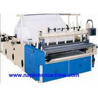 China Recycled Toilet Paper Making Machine With Color Printing And Rewinding Machine on sale