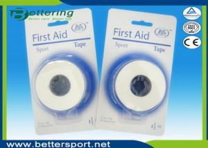 China Cinta atlética del fútbol de la cinta del boxeo de la cinta del entrenamiento del algodón de la cinta adhesiva no elástico de los deportes con el paquete de ampolla on sale