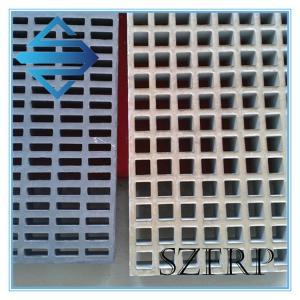 China fiberglass frp mini mesh grating panels for car wash floor on sale