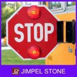 Sinal de venda quente da parada de ônibus escolar