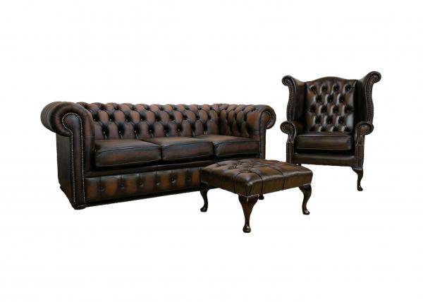 Hotel / Home long Black Leather Chesterfield Sofa for living ...