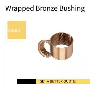 China Rolled Bronze Bushing with Diamond Indents |  Metric Sleeve material CuSn8 & CuSn6.5P on sale