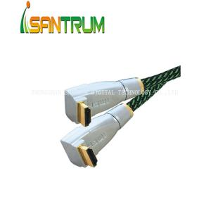 China 90 Degree Metal HDMI Cable With Sleeve on sale