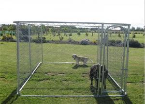 China Modern Design Big Dog Enclosures Outdoor Dog Kennel With Roof UV Proof on sale