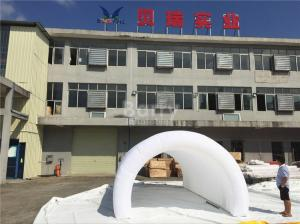 China White Air Tight Inflatable Event Tent , Diy Inflatable Tunnel Tent With LED on sale