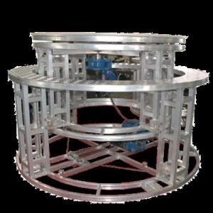 China Aluminum Mobile Rotating Stage Platform Hydraulic Revolving Stage For Wedding on sale