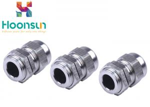 China PG11 Waterproof Stainless Steel Cable Gland , Electrical Rubber Seal Ss Cable Gland on sale