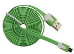 China Colorful Flat Micro USB cable for HTC , Samsung , usb charger cable on sale