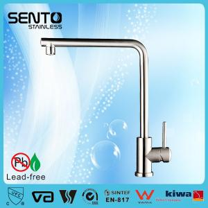 China Small kitchen designs Single lever long handle kitchen faucet, VA certificated on sale