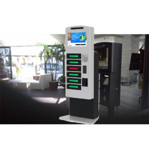 China Remote Control Posters Public Cell Phone Charging Kiosk With Advertising Function on sale