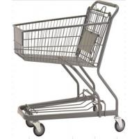 70L Custom Shopping Basket Trolley Powder Coating Wire Basket Cart