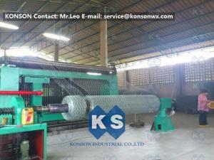 China Twisting Metal Wire Hexagonal Mesh Machine for 80 x 100mm Mesh Size Gabion on sale