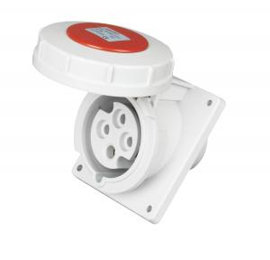China Panel Mounted 3 Phase Industrial Socket Strong PA Plastic Material on sale