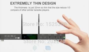 China Android home KTV karaoke machine hd system,download vietnamese english songs from cloud,build in Mic-Echo-in on sale
