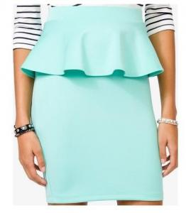 China Sexy Peplum Pencil Mini Women Dresses Skirts For Office Lady , Mint on sale