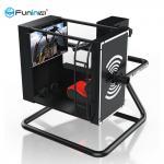 3 Glasses Headset Flight 9D VR Simulator Amusement Park Equipment Black Color
