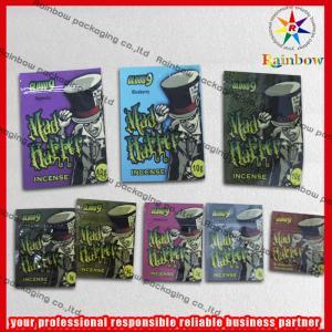 China Las bolsas de plástico herbarias de la cremallera del incienso del papel de aluminio recicladas con la cremallera on sale