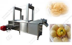 China automatic pani puri frying machine India/300-1000kg/h pani puri deep fryer machine on sale