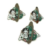 Cute Style Hard Enamel Lapel Pins 0.8 - 3inch Size Iron / Zinc Alloy Material