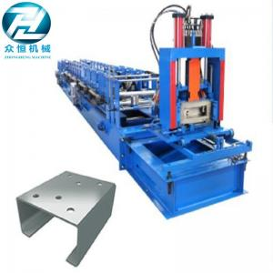 China Automatic Cutting C Channel Roll Forming Machine With Non Change Shearing Device on sale